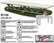 RT310 Schutzhülle für rechteckige Gartentisch, passt am besten am Tisch von max. 305 x 100 cm