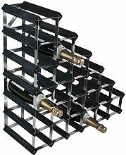 RTA 27Flaschen Weinregal 6x 6schwarz Ash