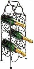 RTA Imperro Weinregal für 11 Flaschen, Antikbraun