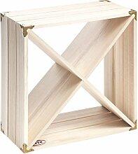 RTA Retro Weinregal Cube, Holz, Naturholz,