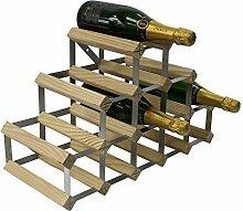 RTA Traditionelles Weinregal für 14 Flaschen,