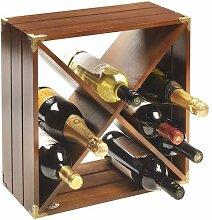RTA Weinregal aus dunklem Holz für 12 Flaschen