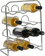 RTA Weinregal für 12 Flaschen, Metall, verchrom