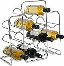 RTA Weinregal für 14 Flaschen, aus verchromtem