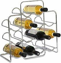 RTA Weinregal für 14 Flaschen, Metall, verchrom