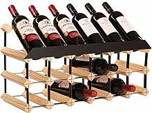 RTA Weinregal für 18 Flaschen, komplett montiert,