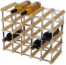 RTA Weinregal, für 25 Flaschen, Kiefer Natur