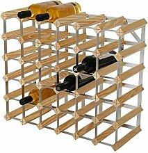 RTA Weinregal, für 36 Flaschen, Kiefer Natur