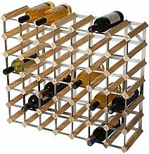 RTA Weinregal, für 49 Flaschen, Kiefer Natur