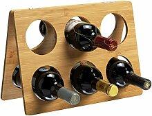 RTA Weinregal für 6 Flaschen, zusammenklappbar,