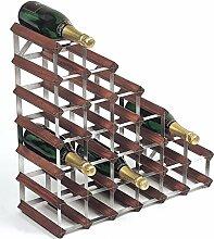 RTA Weinregal, Holz, Kiefer dunkel, 27 Bottles