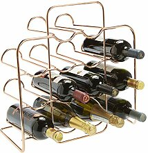 RTA Weinregal, Metall, für 14 Flaschen, Rotgold