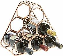RTA Weinregal, sechseckig, Metall, Roségold