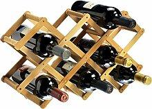 RTA Weinregal, zusammenklappbar, für 10 Flaschen