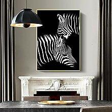 RTCKF Tier Schwarz Und Weiß Print Zebra Poster