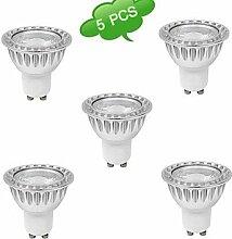 Rts 5 Stück Dimmbar Spot Lampen MR16 GU10 10 W 850 LM 3000 K 1 COB Warmes Weiß AC 220-240 V