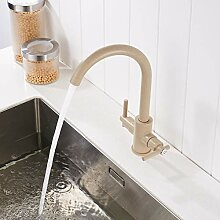 RTTGOR Wasserhähne Beige Küchenarmaturen