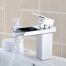 RTTGOR Wasserhahn Antike Wasserfall Wasserhahn Bad