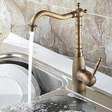 RTTGOR Wasserhahn Antikes Kupfer Badezimmer