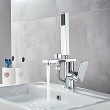 RTTGOR Wasserhahn Chrom Zwei Funktion Waschbecken