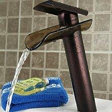 RTTGOR Wasserhahn Glas Wasserhahn. Wasserfall