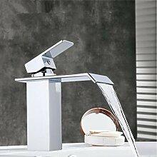 RTTGOR Wasserhahn Messing Quadrat Waschbecken