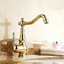 RTTGOR Wasserhahn Waschtischarmaturen Goldene