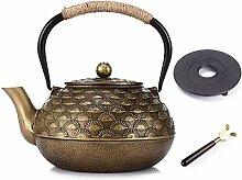 RTY Exotische Gusseisen Teekannen mit Edelstahl