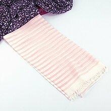 Ru Lan Spin Gitter Streifen Baumwolle Schals Sonnenschutz Schals , Rosa