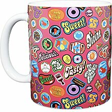 Rubber Road Candy Crush Heat Reactive Tasse