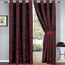Rubby Vorhange Schal mit Ösen Rot Vorhang Gardine