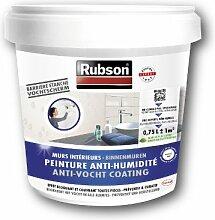 Rubson Wandfarbe Feuchtigkeitsstopp, für Kellerwände, Behälter aus Kunststoff, 0,75 l, Weiß