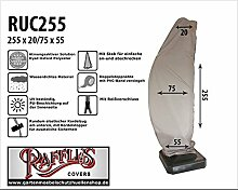 RUC255 Schutzhülle für Ampelschirm, Gebogen Modell Schirmhülle, Hochwertige Schutzhülle für Ampelschirm, Sonnenschirmhülle