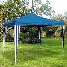 Ruck-Zuck-Pavillon klappbar 3x3m blau