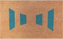 Ruckstuhl - Fußmatte, Strichmuster türkis