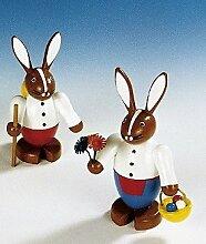 Rudolphs Schatzkiste Osterfigur Hasenpaar bunt