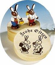 Rudolphs Schatzkiste Osterfigur Hasenpaar bunt in