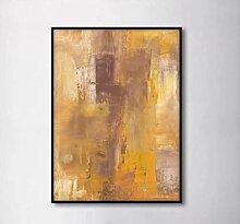 Rudxa Abstrakte Goldene Leinwand Malerei Wandkunst
