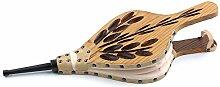 Ruecab 1259Grill-Blasebalg für Kamin, aus lackiertem Holz und braunem Leder, 4x 20x 54cm