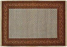Rug Studios Teppich Bikaner Mir Indien Beige, 140 x 200 cm · Beige · handgeknüpft · Schurwolle · Klassisch · hochwertiger Teppich · RS71425
