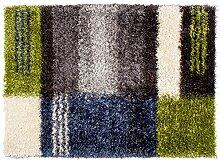 Rug Studios Teppich Shaggy Pasadena Grau/Blau, 170