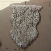 rugs Hand fertig und genäht Premium Schaffell Teppich in Natural - Größe Single ( Farbe : Grau , größe : 60x100cm )