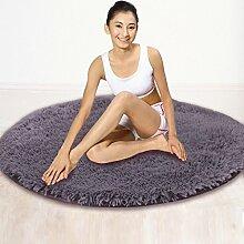 rugs Runder Bereich Teppich, Schlafzimmer Wohnzimmer Zimmer Teppich Couchtisch Pure Decke ( Farbe : B , größe : Diameter/160cm )