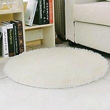 rugs Runder Bereich Teppich, Schlafzimmer Wohnzimmer Zimmer Teppich Couchtisch Pure Decke ( Farbe : A , größe : Diameter/160cm )