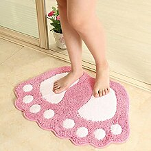rugs Supermarket- Bad MatsNon Slip Microfaser Badematte Badematten Dusche Teppiche Teppich für Badewanne, Boden, Dusche Stall Fußmatten ( Farbe : Pink , größe : 40*60-2 )