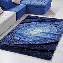 rugs Supermarket- Hochwertiger mediterraner Teppich Wohnzimmer Teppich Schlafzimmer Teppich Steigung Blau Sofa Kaffeematte ( größe : 120×170cm )