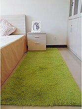 rugs Supermarket- Modern Einfacher rechteckiger Teppich, Wohnzimmer, Schlafzimmer - Nachttischdecke, Matte - Matratze ( Farbe : Grün , größe : 50*80cm )
