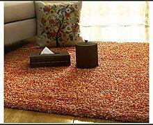 rugs Supermarket- Schlafzimmer Wohnzimmer Teppich, Modern Dick Nachttisch Büro Sofa Matte ( Farbe : Braun , größe : 80CM×180CM )