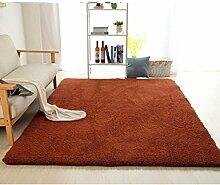 rugs Supermarket- Super Soft - Teppich - Home Teppich + Einfach zu reinigen Anti-Fade - Mehrfarbig Optional ( Farbe : Braun , größe : 180*200cm )