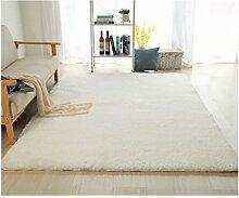 rugs Supermarket- Super Soft - Teppich - Home Teppich + Einfach zu reinigen Anti-Fade - Mehrfarbig Optional ( Farbe : Weiß , größe : 160*230cm )
